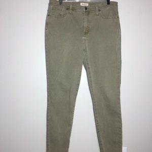 "Madewell 9"" High-Rise Skinny Jeans: Raw-Hem"